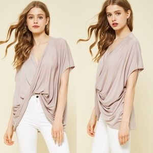 MORGAN Twist Front Top - TAUPE